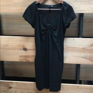 H&M casual black cotton dress with pockets